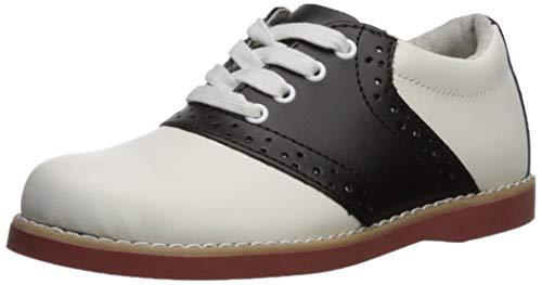 (Academie Gear Cheer Saddle Shoe (Toddler/Little Kid/Big Kid),White/Black,4 M US Big Kid)