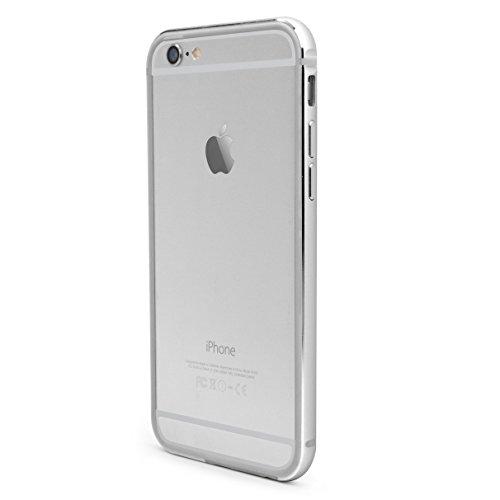X-Doria Bump Gear Plus TPU and Aluminum Rail Bumper Case for iPhone 6 (4.7 Inch) (Silver)