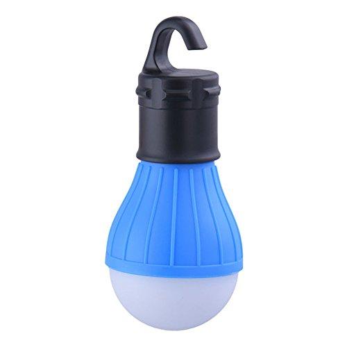 Led Mini Ice (Ice Store Soft Light Outdoor Hanging LED Camping Tent Light Bulb Fishing Lantern Lamp (blue))