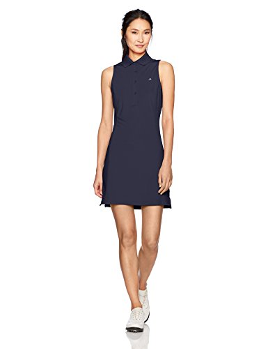 J.Lindeberg Women's W Louise Tx Jersey Dress, JL Navy, M (Golf Dress)