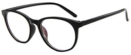 EOZY Retro Brillen Nerdbrille Dekogläser Unisex Rund Lesebrille Color1