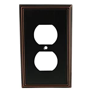 Cosmas 65049-ORB Oil Rubbed Bronze Single Duplex Electrical Outlet Wall Plate / Cover