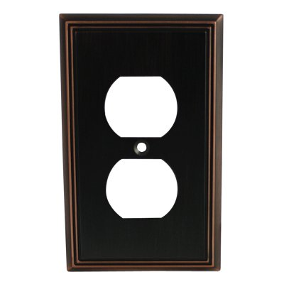 Cosmas 65049-ORB Oil Rubbed Bronze Single Duplex Electrical Outlet Wall Plate/Cover ()