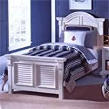 American Woodcrafters Cottage Traditions Twin Panel Bed in Eggshell White 6510-33PAN