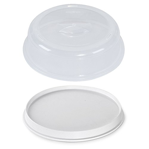 (Nordic Ware Microwave 2-Sided Round Bacon and Meat Grill and 10-Inch Spatter Cover )