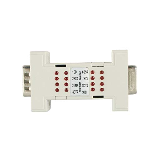 Rs 232 Tester - RS232 Tester Serial DB9 Interface Port Mini Analyzer Loop Back with LED Indicator