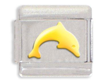 (Dolphin Italian Charm Bracelet Link)