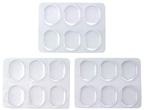 Drum Damper Gel Pads For Drums Tone Control, Non-toxic Silicone Drum Dampeners, Clear Resonance Pads For Drum Muffling (18 Pack)