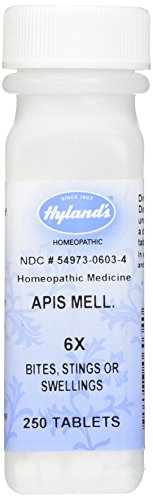 Hyland's Apis Mellifica 6X Tablets, Natural Homeopathic Relief of Bites, Stings & Swellings, 250 Count