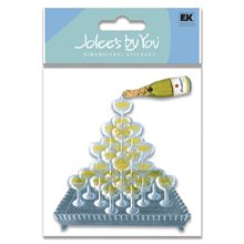 JOLEES By You Stickers, Champagne Pyramid