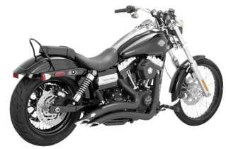 (Vance & Hines Big Radius 2 into 2 Exhaust Black 46071)
