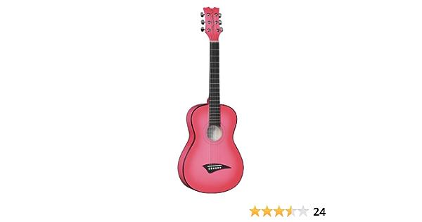 Dean Playmate Mini guitarra acústica, pinkburst con Gig Bag, tamaño 3/4
