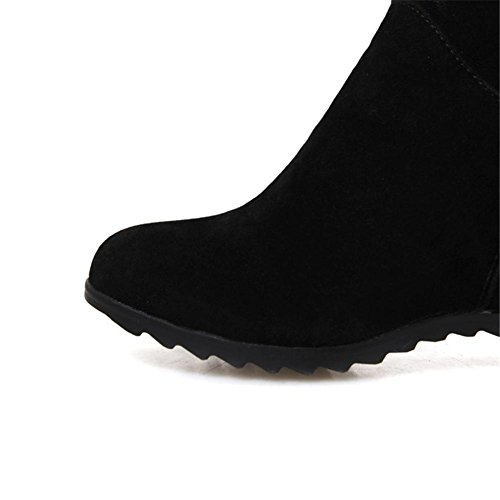 NVXIE Hi Sky Big Comfortable Flowers Snow Leisure Winter Nike Khaki Women Scrub Outdoor Flat Warm Dunk Black EUR41UK758 Non slip Thick Fall Boots bottom Keep rwT0xqrvY