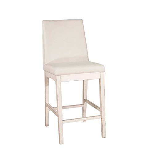 (Hillsdale Furniture 4542-824 Hillsdale Clarion Parson Height, Set of 2, Sea White Non-Swivel Counter Stool Set,)