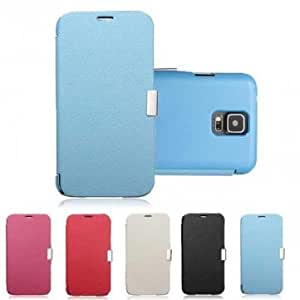 Magnetic Flip PU Leather Case For Samsung Galaxy S5 I9600 @ Color==Red