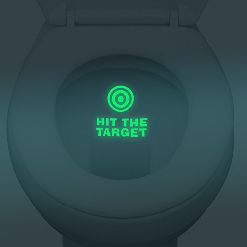 Funny Hit The Target Toilet Sticker Grow In Dark WC Wall Sticker Decal Toilet Seat Sticker