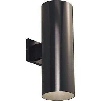 Progress Lighting P5642-20 6-Inch Up/Down Cylinder with Heavy Duty Aluminum Construction and Die Cast Wall Bracket, Antique Bronze