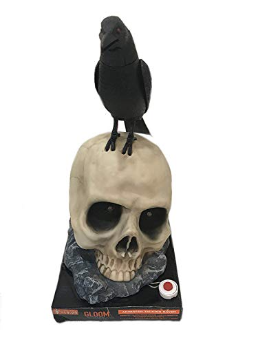 Talking Skull Halloween - Halloween Animated Talking Raven on