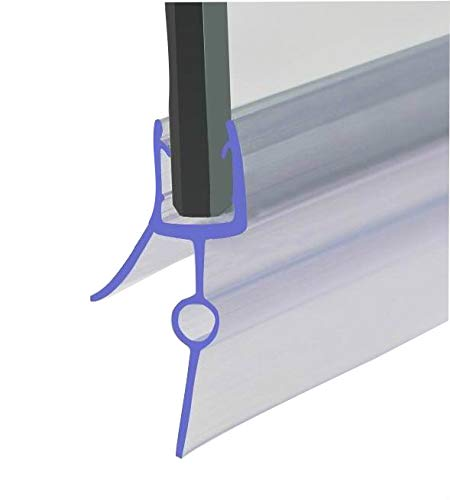 HNNHOME Rubber Plastic Bath Shower Screen Seal Strip For 4-6mm Glass Door Curved Straight 16-22mm Gap