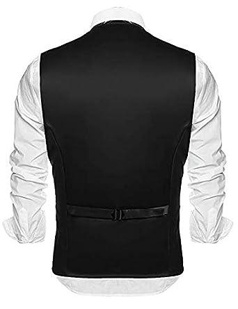 DIKN Mens Slim Fit Fashion Formal Business Dress Suit Vest Waistcoat