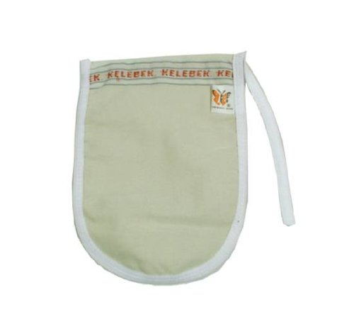 White Kese - Light Hamam Hammam Spa Exfoliator Kessa Shower Glove Mitt The Turkish Emporium Ltd Kelebek Kese -162