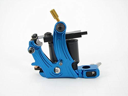 - Blue Frame Vital Tattoo Machine - The AERO - set up for Coloring