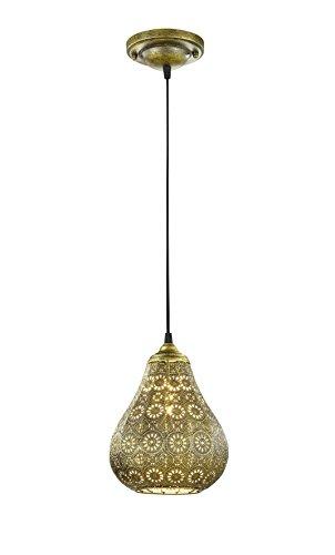 Trio Jasmin - Lámpara colgante, color bronce antiguo