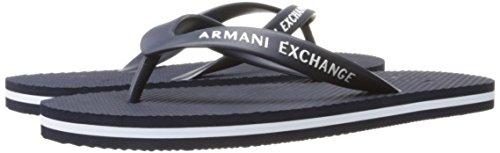 A|X Armani Exchange Men's Armani Exchange Solid Flip Flop, Navy/White, 8 M US Photo #3