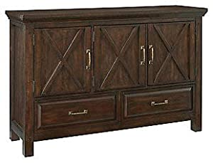 Shilpi Handicrafts Multipurpose Usage Double Drawers & 3 Door X Factor Decor Cabinet for Living Room