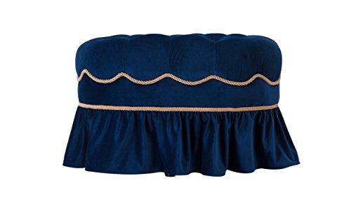 Jennifer Taylor Home 2351-859 Toby Ottoman, Navy Blue
