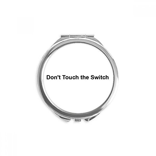 Don't Touch Switch Black Symbol Mirror Round Portable Hand Pocket Makeup (Switch Symbol)