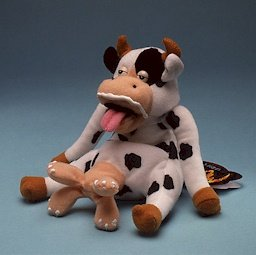 BESSIE GOT MILKED * MEANIES * Series 2 Bean Bag Plush Toy From The Idea Factory