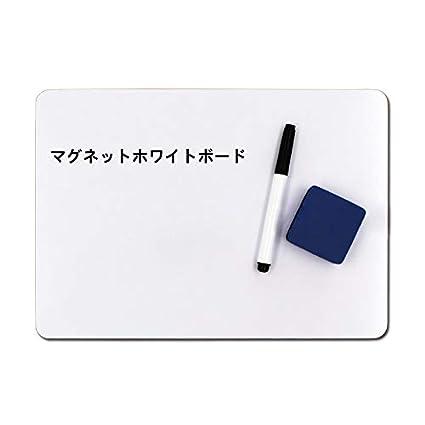 Pizarra blanca de doble cara, tamaño A4, tamaño pequeño, portátil ...