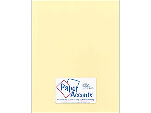 Accent Design Paper Accents Cdstk Smooth 8.5x11 74# Butter Cream ()