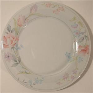 American Limoges China FLOWERS Dinner Plate 10.75