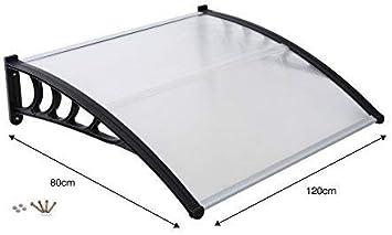 Vordert/ür Haube Veranda Regen Schutz Markise Lean zu Dach Shelter Blende Abdeckung 80 x 120cm