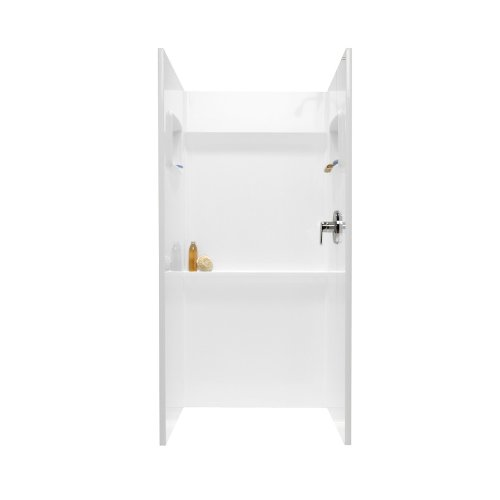 Swanstone SA-3636-010 Solid Surface 3 Panel Shower Side a...
