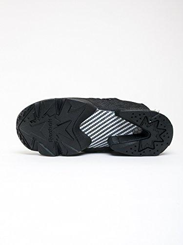 cfabe35b54ef Reebok Man s Sneaker Instapump Halloween In Denim E Pelle Nera 10
