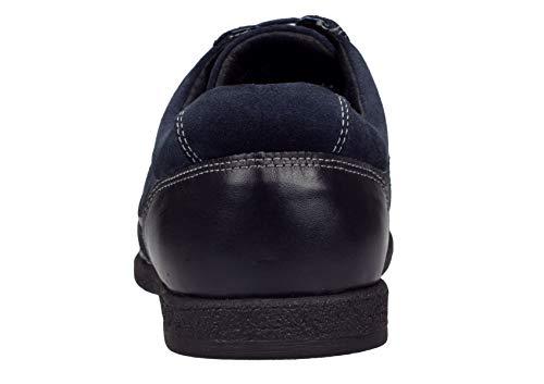 Gino Valentino Men's Go Kart Leather Shoes Fashion Sneaker (41 M EU / 8 D(M) US, Navy)