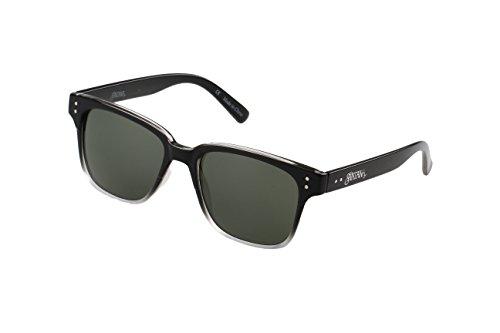 SANTANA Vuku 127p Polarized Square Sunglasses, Gloss Black to Crystal Fade, 53 - Accessories Eyeware