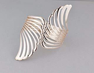 Angel wings bangle bracelet metal cuff halloween costume wonder woman cosplay -