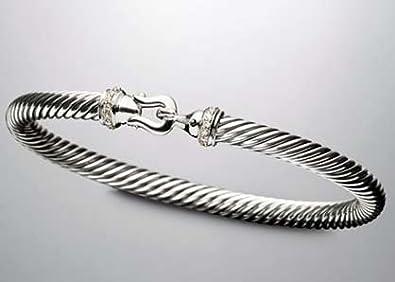 Amazon Com David Yurman 5mm Pave Diamond Cable Buckle Bracelet Jewelry