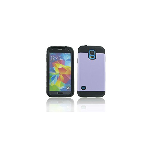 Black + Purple Fusion Candy Cases w/ Built-in Screen Protector for Samsung Galaxy S5