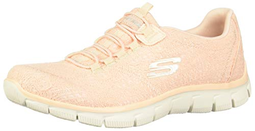Skechers Womens/Ladies Empire Spring Glow Memory Foam Trainers Shoes Peach