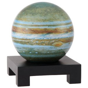 6'' Jupiter MOVA Globe with Square Base in Black