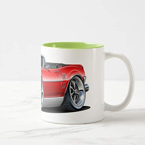 FiuFgyt 1967 Firebird Red Convertible Lime Funny Mug Christmas Gifts for Friends Ceramic Coffee Mug Cup 11oz ()