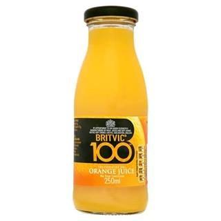 Britvic 100 Orange Juice 250Ml Case Of 24