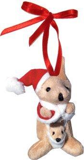 Plush Kangaroo with Joey Christmas Ornament