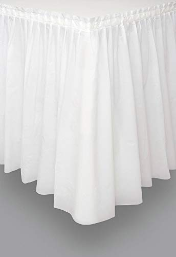 White Plastic Table Skirt, 29