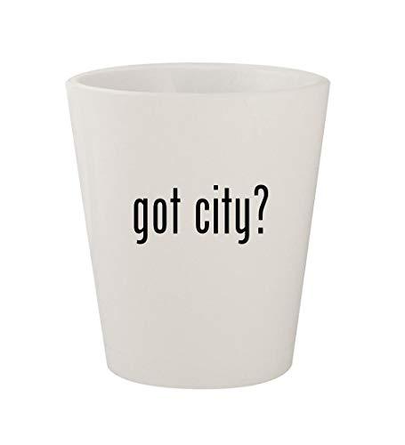 got city? - Ceramic White 1.5oz Shot Glass